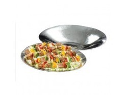 Stainless Hammered Bowl - Oblong