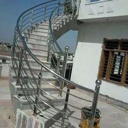 Steel Garden Spiral Staircase