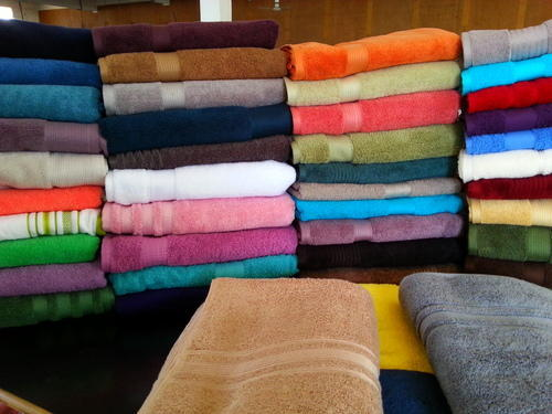 Embroidered Cotton Bath Towels