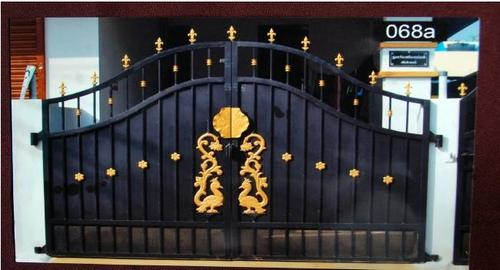 Beautiful Main Gate With Gate Colour Design.