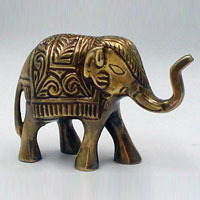 Brass Elephant Sculpture