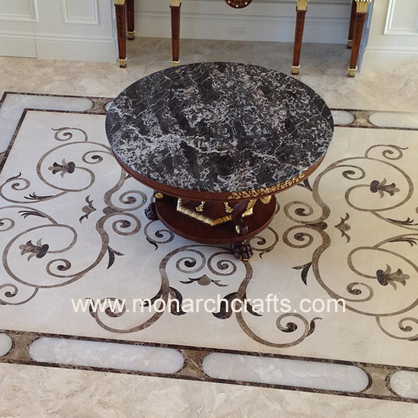 Monarch Crafts Marble Floor Designs, Thickness: 20-25 mm