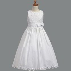 Wedding Wear First Holy Communion Kids Gown, Size: S And L