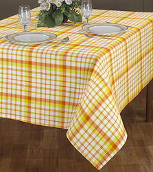 Square Checked Yarn Dyed Table Cloth