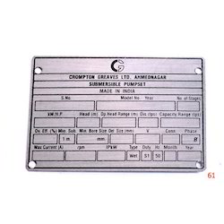 Metal Embossed Labels