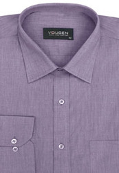 Cairon Purple Solid Oxford Premium Formal Shirt