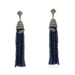 Sapphire Bead Earrings
