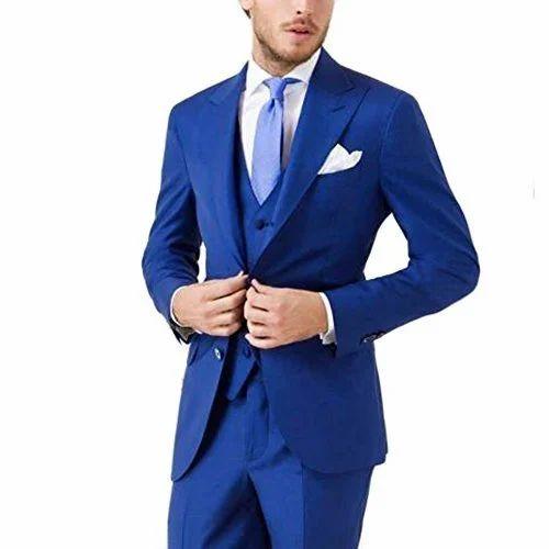 Blue Color Three Piece Suit, Men Shirts, Jeans \u0026 Clothing