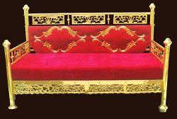 Red Mandap Brass Chairs