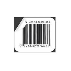 White Laminated Paper Printed Barcode Sticker