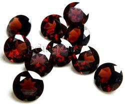 Garnet Faceted Round Gemstone