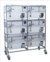 Trolley With Inbuilt Polypropylene Guinea Pig Cage
