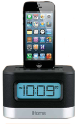 Dual Charging Stereo FM Clock Radio with Lightning Dock
