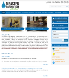 Website for Water Damage Repair and Restoration Service Prov