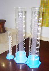 Glass Measuring Cylinder with Plastic Base