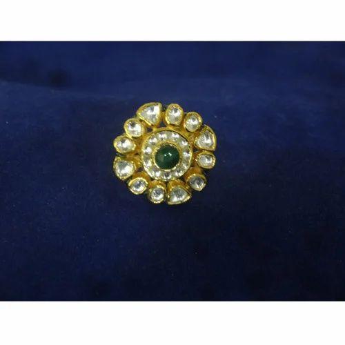 Gold Kundan Rings View Specifications & Details of Kundan Finger