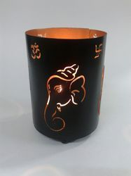 Pillar Cage Ganesha T-Light Candle Holder