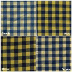 Dogger Yellow Indigo Yarn Dyed Shirting Fabric