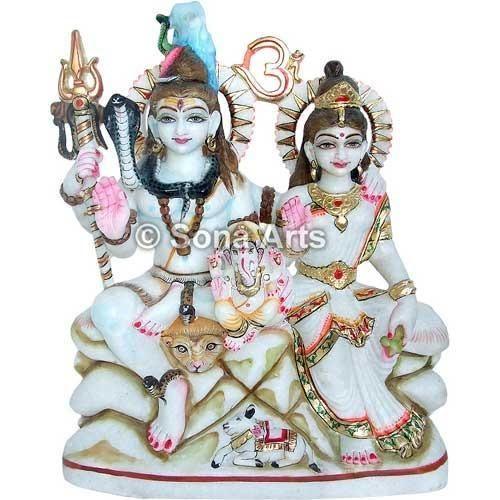 Marble Shankar Parvati Statue Marble Shiva Parivar