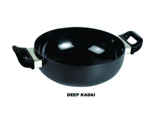 Siver Stainless Steel Deep Kadai, For Kitchen Appliances