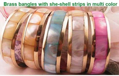 Bracelet Brass Seashell