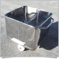 Stainless Steel Dustbin Trolley