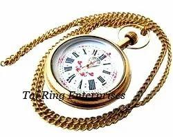 Brass Nautical Pocket Watch