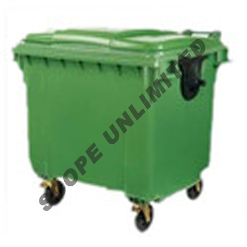 HDPE Industrial Dustbin, Capacity: 660L