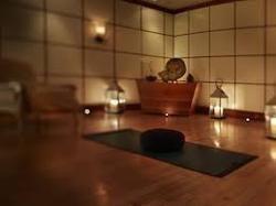Meditation room wooden flooring