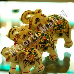 Decorative Marble Elephants Statue