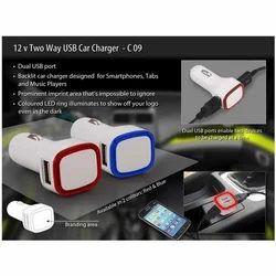 Dual USB Backlit Car Charger