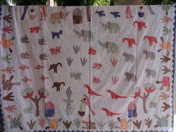 Hand Embroidered Patchwork Kid's Bedspread