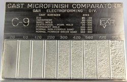 C9 Casting Micro Finish Surface Comparator