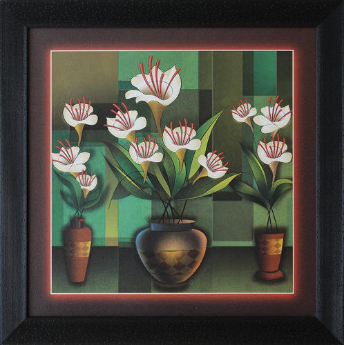Company Details & Flower Vase Painting Abstract \u0026 Contemporary Paintings | Shyam Art ...