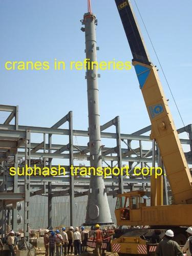 Crane Rental Service For Refineries