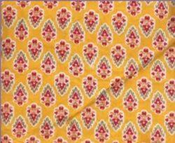 Yellow Printed Fabric