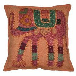 Handmade Indian Elephant Jogi Cushion Cover