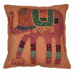 Handmade Indian Elephant Jogi Cushion Cover