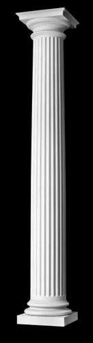 White Circular Marble Column, Min. 12 Inch To 150 Inch