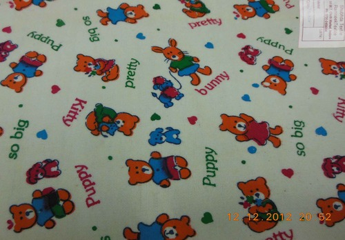 Baby Print Flannel Fabric Light Colors