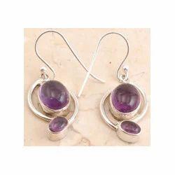 Amethyst 925 Sterling Silver Earring