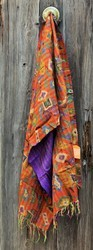 Block Crafted kantha Silk Stole