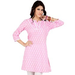 Pink Printed Ladies Kurti