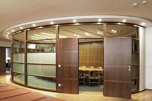 Wooden Partition office partitions - office glass partitions manufacturer from mumbai