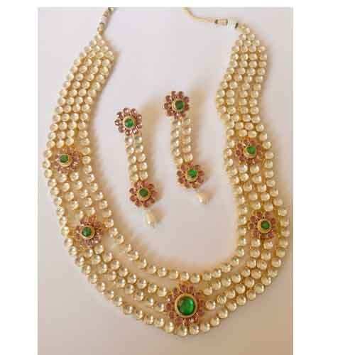 Gold Plated Indian Jewellery Setbridal Bollywood Polki at Rs 10500