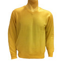 Yellow V Neck Pullover