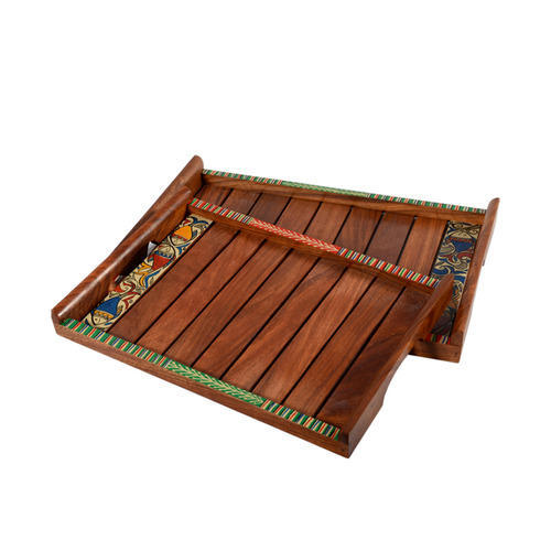 8a55aff23206 Handcrafted Wooden Serving Tray, Tableware - ExclusiveLane, Noida ...