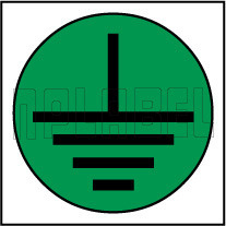 820141 Earthing Round Sticker