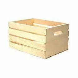 Rectangular Wood Wooden Crate