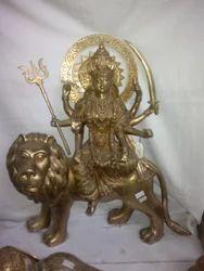 Brass Durga Ji Statue